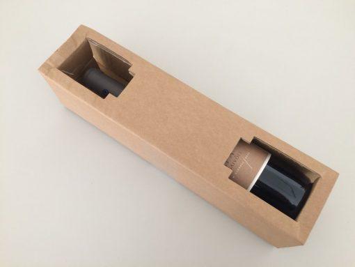 Embalagem de protecção individual dos vinhos comprados na Virgu Wines